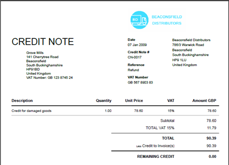 doc.#12751650: sample credit note format – download credit card, Invoice templates
