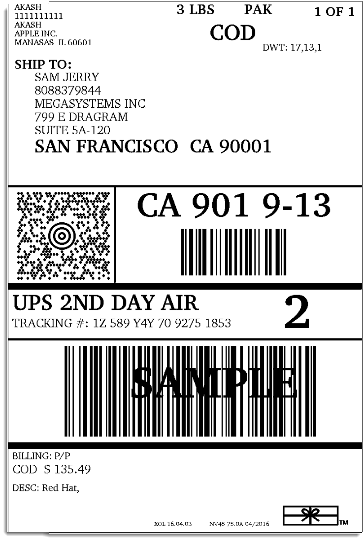 Creating a ups label bing images for Create fake shipping label