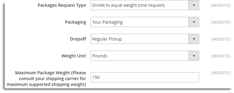 Package Request Type
