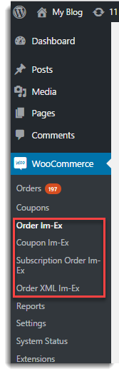 WooCommerce Admin Menu