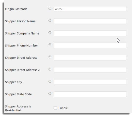 WooCommerce FedEx Shipping Plugin with Print Label - Shipper Settings