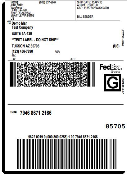 photo regarding Printable Fedex Shipping Label identified as Printing FedEx Transport Labels LegendBorne