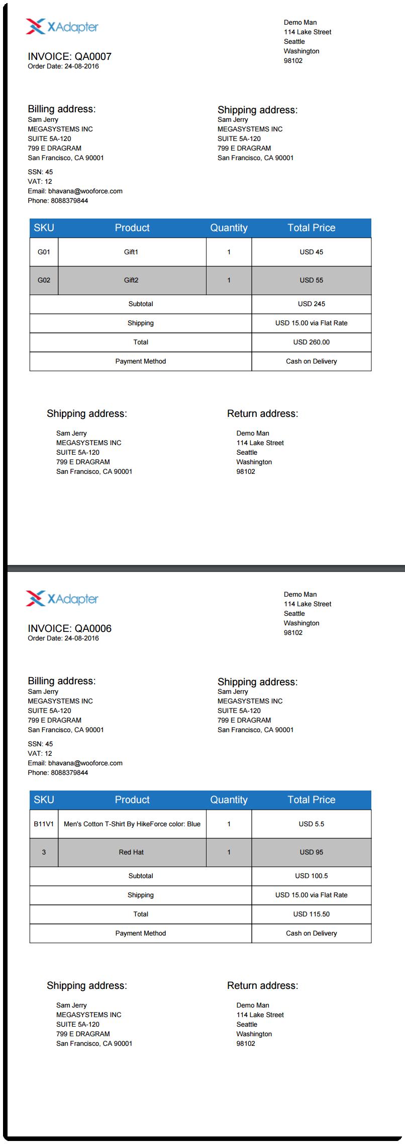 Bulk Dispatch Labels in PDF