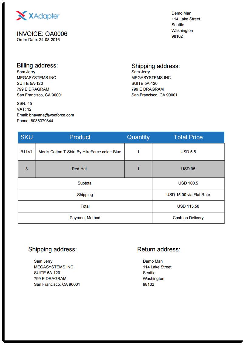 Downloaded PDF Dispatch Label