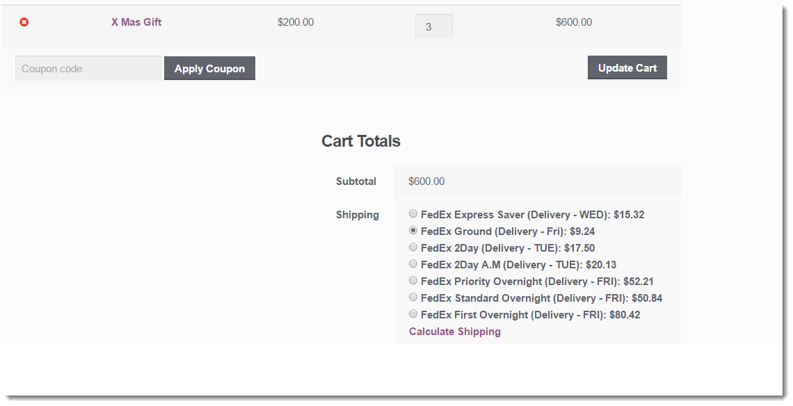 WooCommerce FedEx Shipping Plugin with Print Label - FedEx real time rates