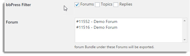 Forum Filters