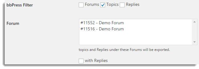Topics Filter