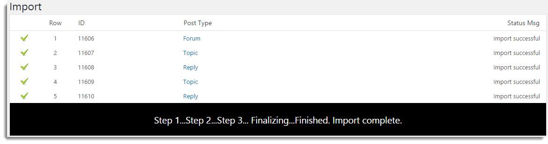 User Import Window