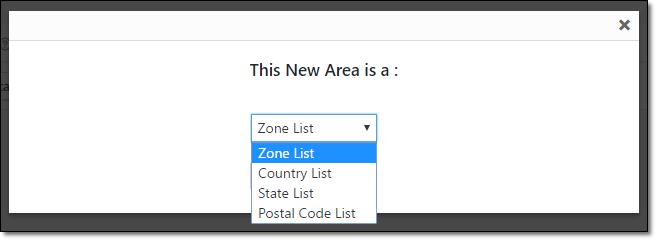 Area list