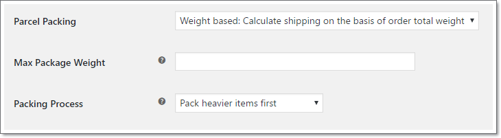 Calculate shipping based on order weight