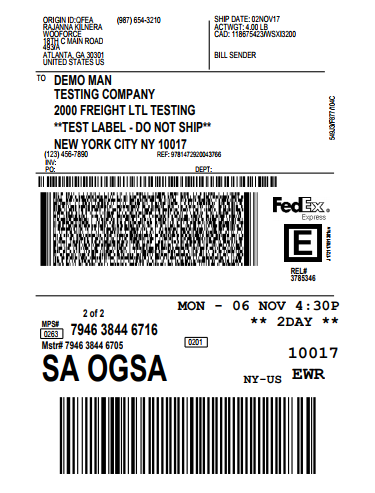 shipping label two