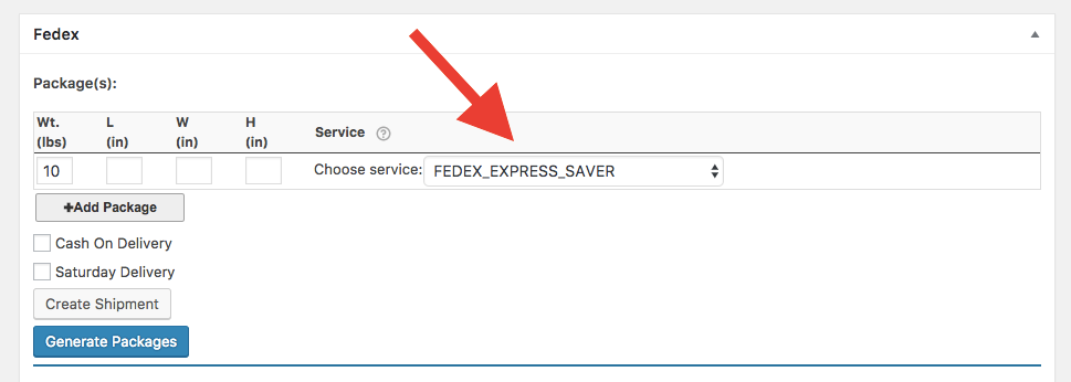 fedex shipping service