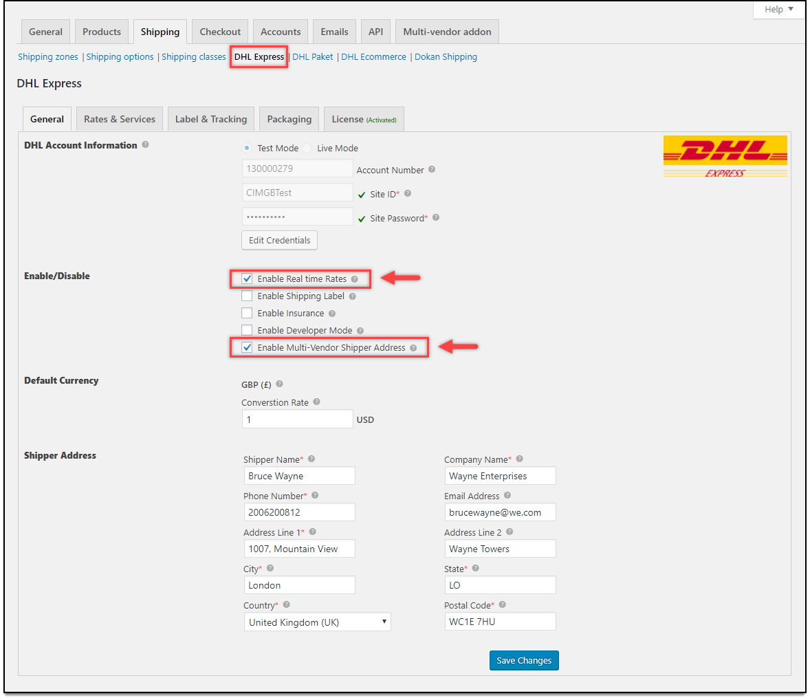 How to setup WooCommerce Multi-Vendor Add-On with WooCommerce DHL