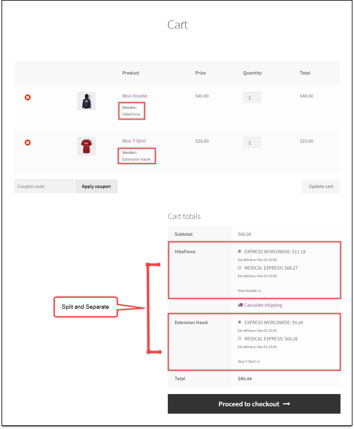 WooCommerce Multi-Vendor Add-On | Split and separate