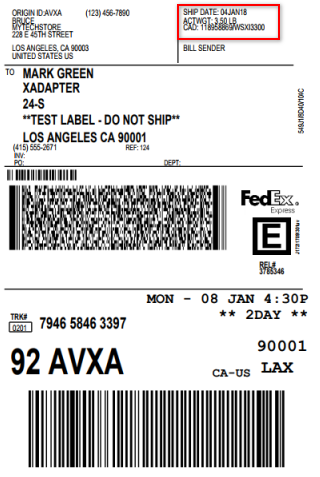 FedEx Shipping label for bundled product