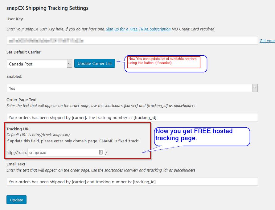 shipment tracking plugins
