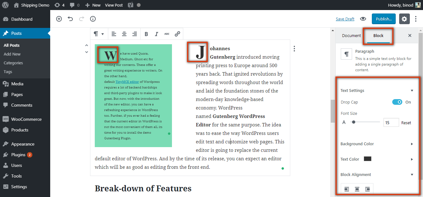 Gutenberg WordPress Editor