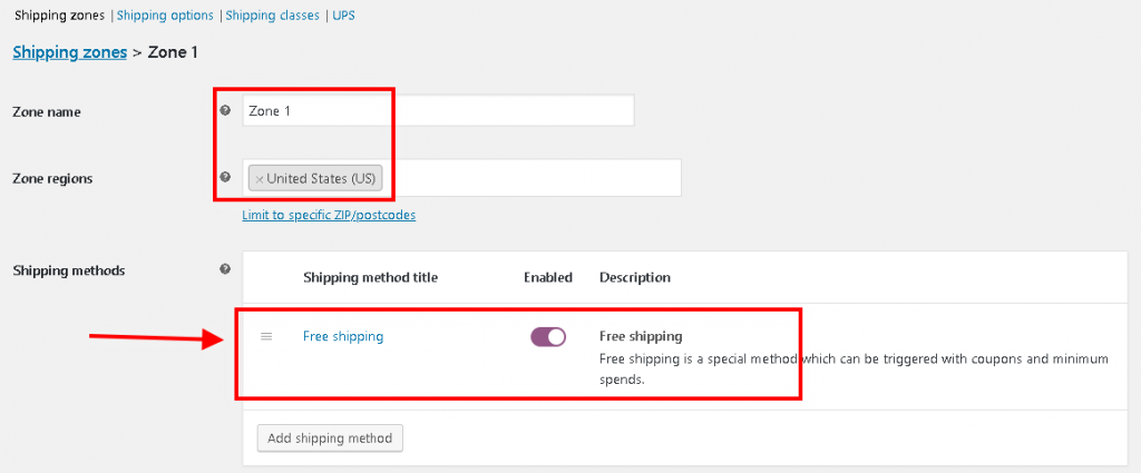 WooCommerce Free Shipping option for a Shipping Zone