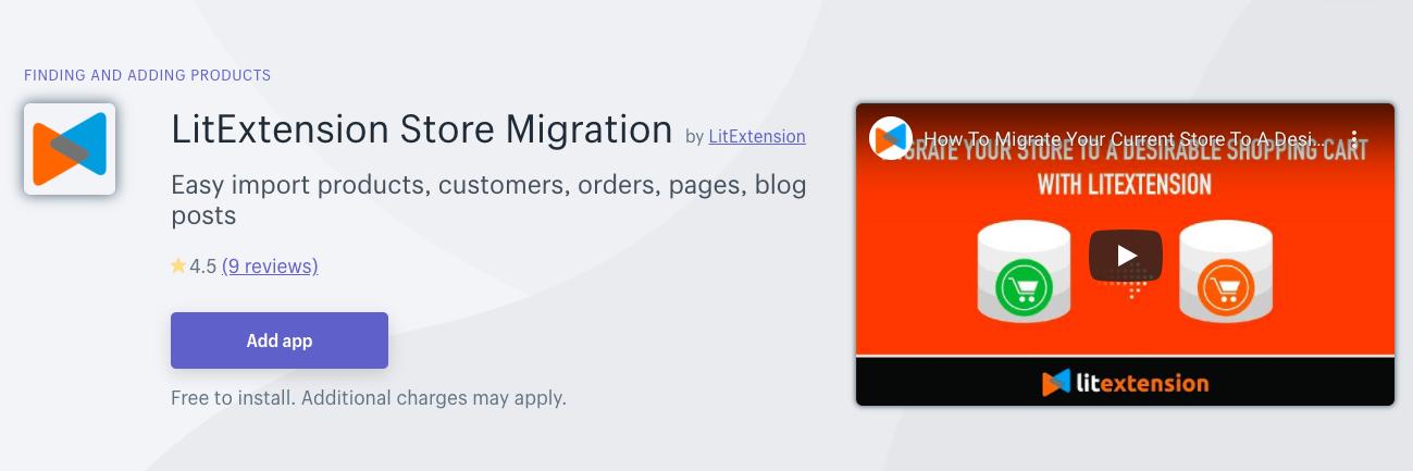 LitExtension Store Migration