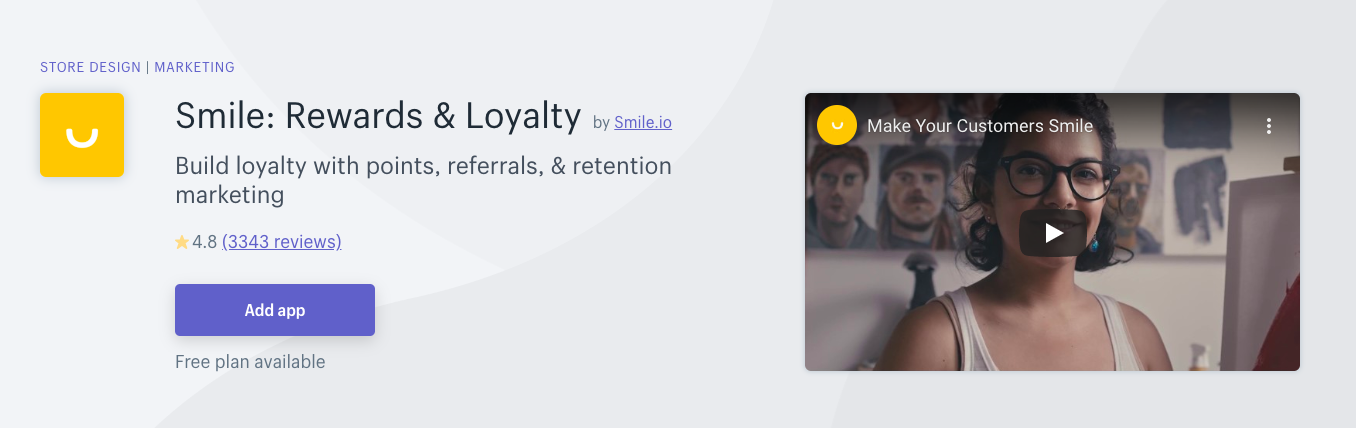 Smile - Rewards & Loyalty